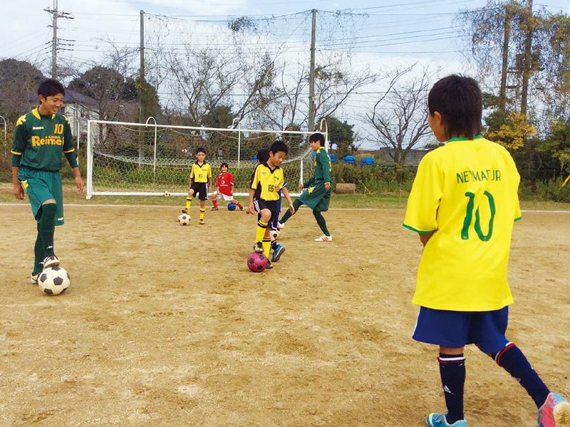 サッカー部キッズコミットin千葉黎明高校